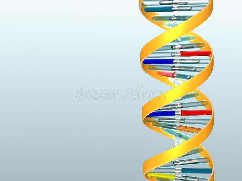 DNA lizenzfreie stockfotografie