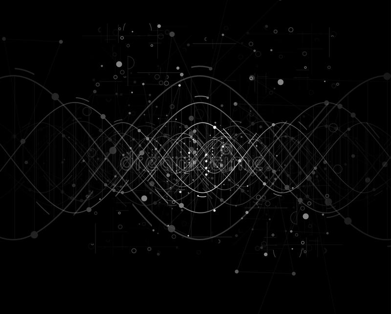 DNA Abstract background collection. Futuristic technology interf. Ace. Vector format stock illustration