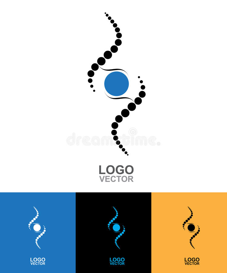 DNA Abstract icon and element collection. Futuristic technology vector illustration