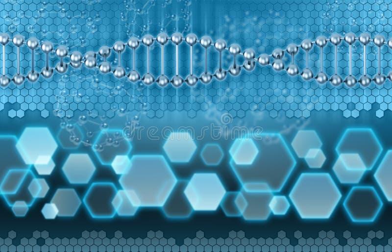 DNA-Analysenkonzept lizenzfreie abbildung