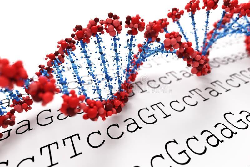 DNA background royalty free illustration