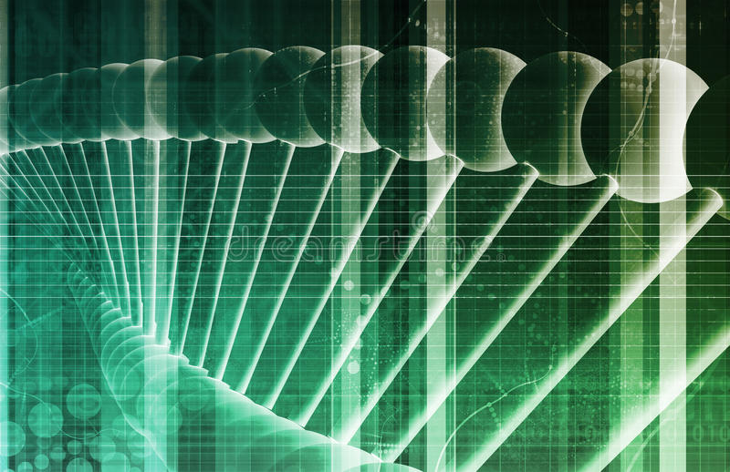 DNA Background. With a Science Helix Strand stock illustration