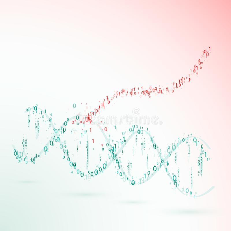 Dna. binary code. virus. vector vector illustration