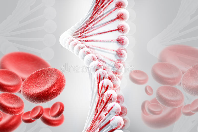 Download DNA With Blood Cells Royalty Free Stock Photos - Image: 16698578