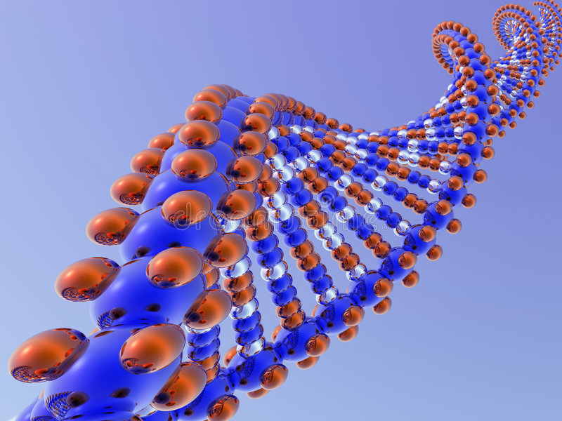 Dna on blue stock illustration
