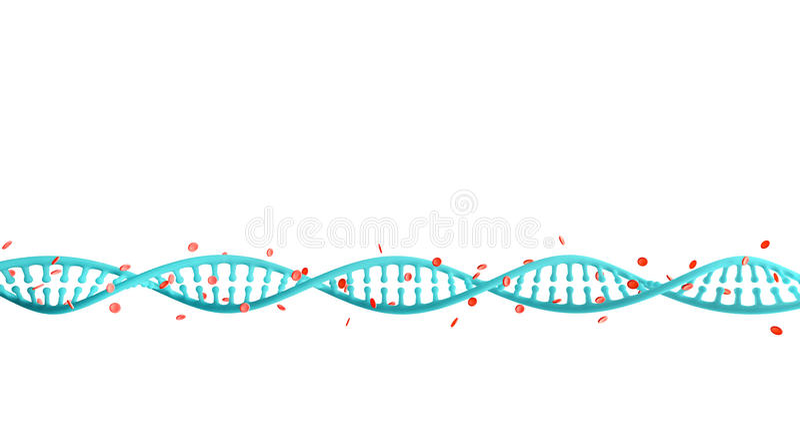 DNA-Bundels met Hemoglobine stock illustratie