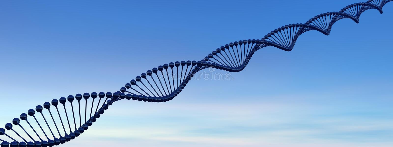Download DNA chain stock illustration. Image of biochemistry, genetically - 23985805