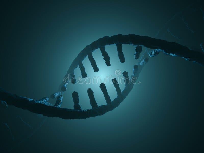 DNA chain. Abstract scientific background. 3D rendering. DNA chain. Abstract scientific background. Beautiful illustraion. Biotechnology, biochemistry, genetics vector illustration