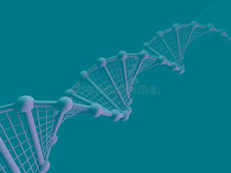 DNA chain. Abstract scientific background. 3D rendering stock illustration
