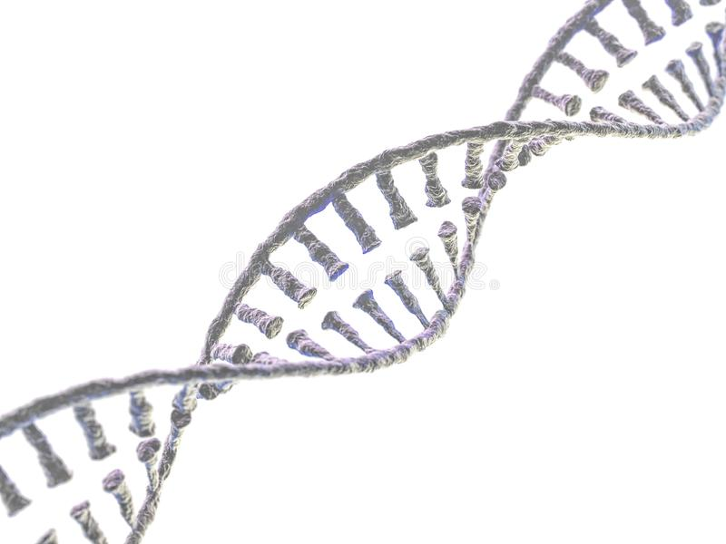 dna chain  abstract scientific background  3d rendering stock illustration