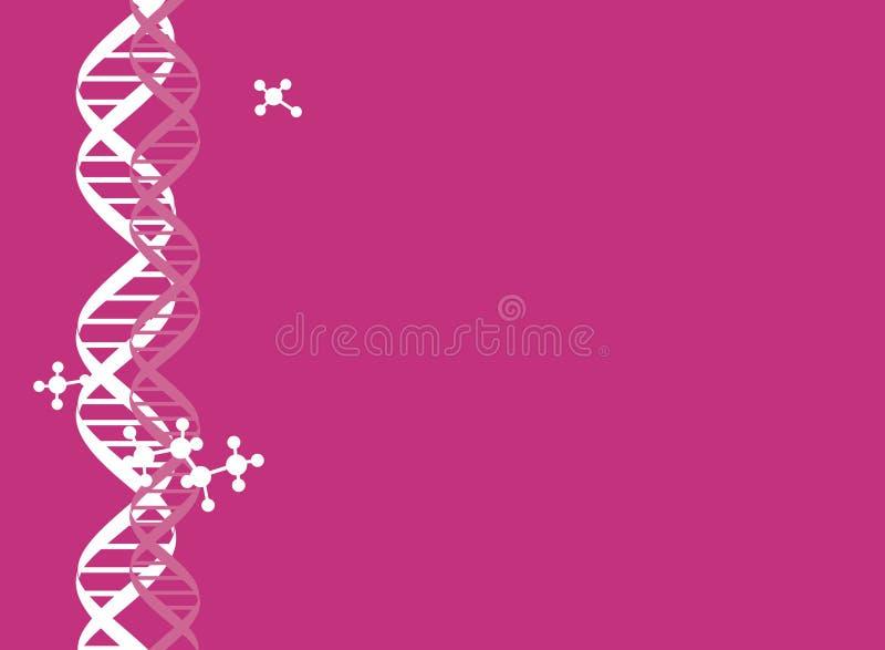 DNA chain background. DNA chain elements pattern design background vector illustration