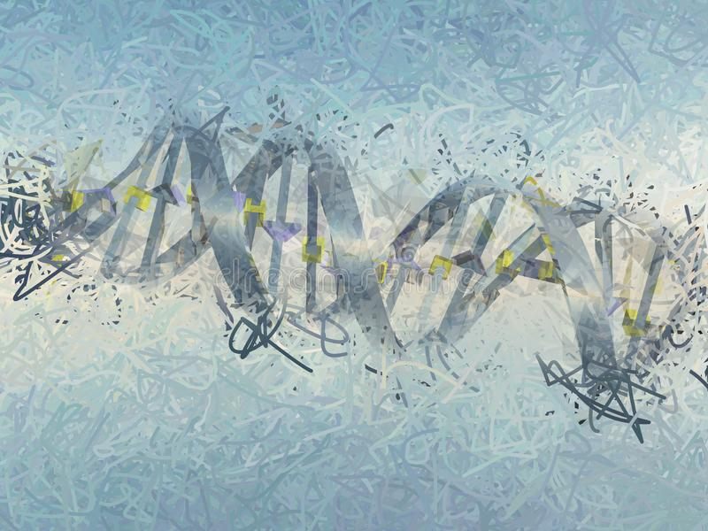 DNA chain. Digital art. DNA chain. 3D rendering royalty free illustration
