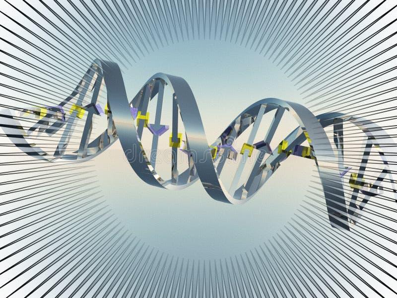 DNA chain. Digital art. DNA chain. 3D rendering vector illustration