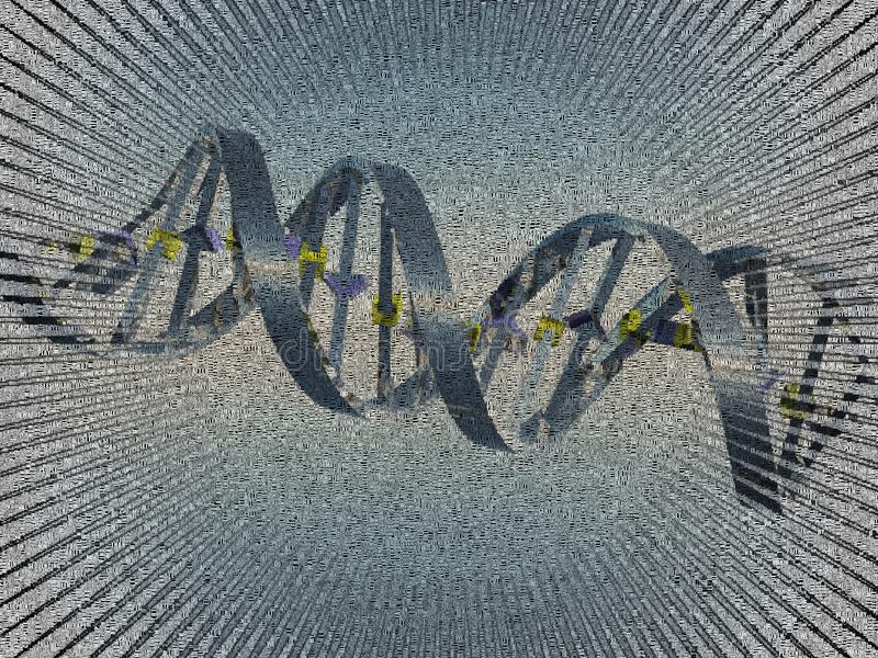 DNA chain. Image composed entirely of words royalty free illustration