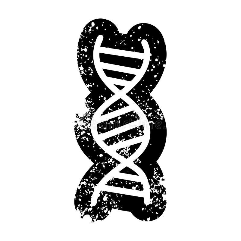 DNA chain icon symbol. Illustrated DNA chain icon symbol royalty free illustration