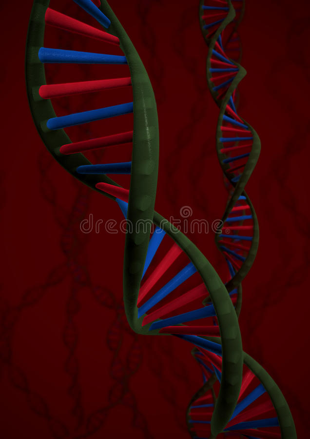 Download Dna chains stock illustration. Illustration of science - 14040249