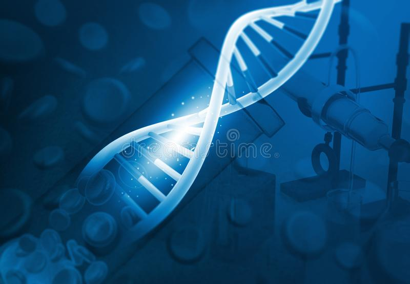 DNA in chemielaboratorium royalty-vrije stock foto's