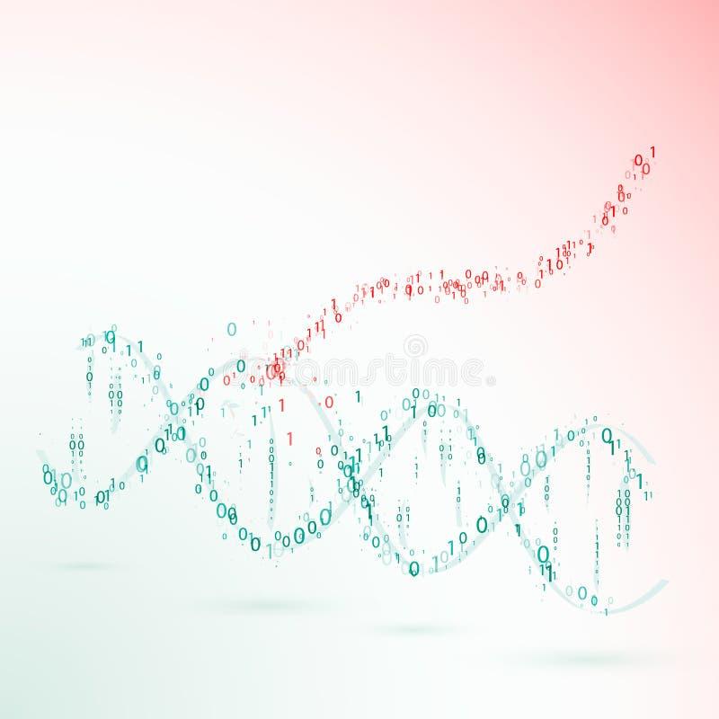 DNA Codice binario virus Vettore illustrazione vettoriale