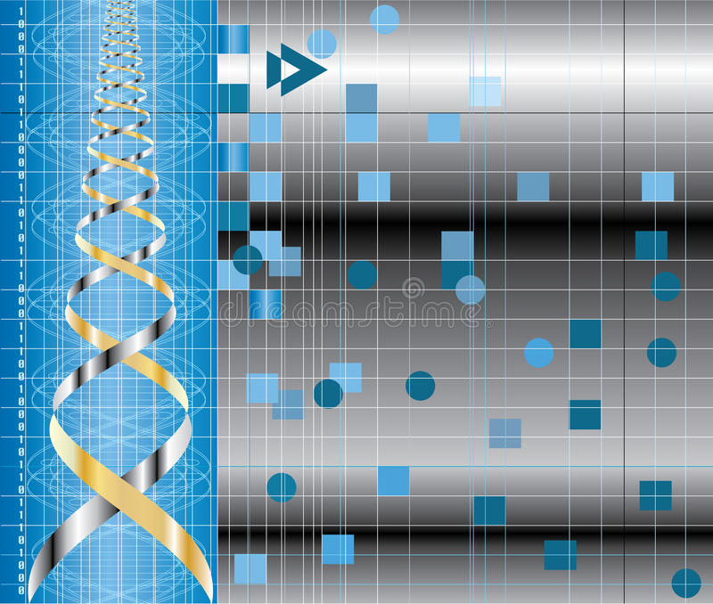 Dna curve background. Vector abstract background with DNA graph vector illustration