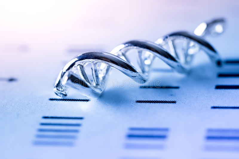 DNA, cząsteczkowy lab test zdjęcia stock