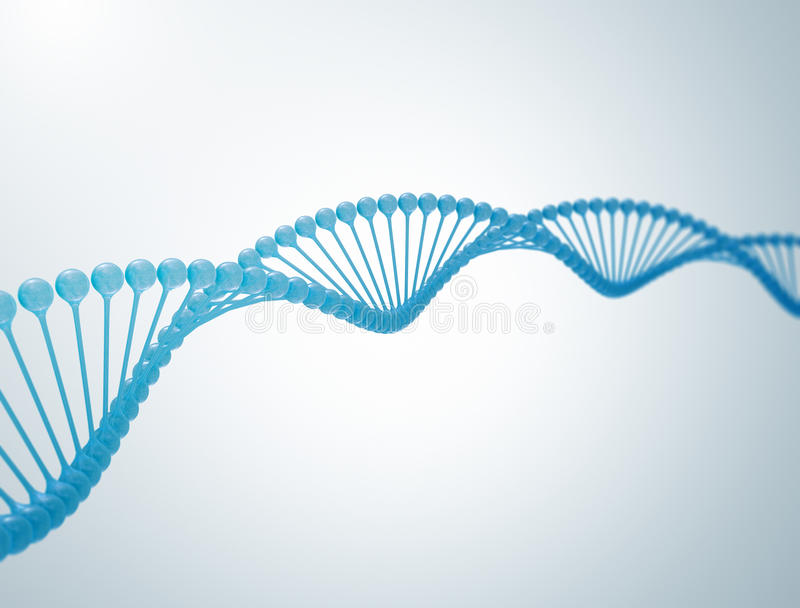DNA 3d illustration stock photo