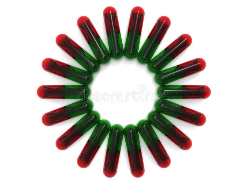 DNA-de hoogste mening van de bundelcapsule stock illustratie
