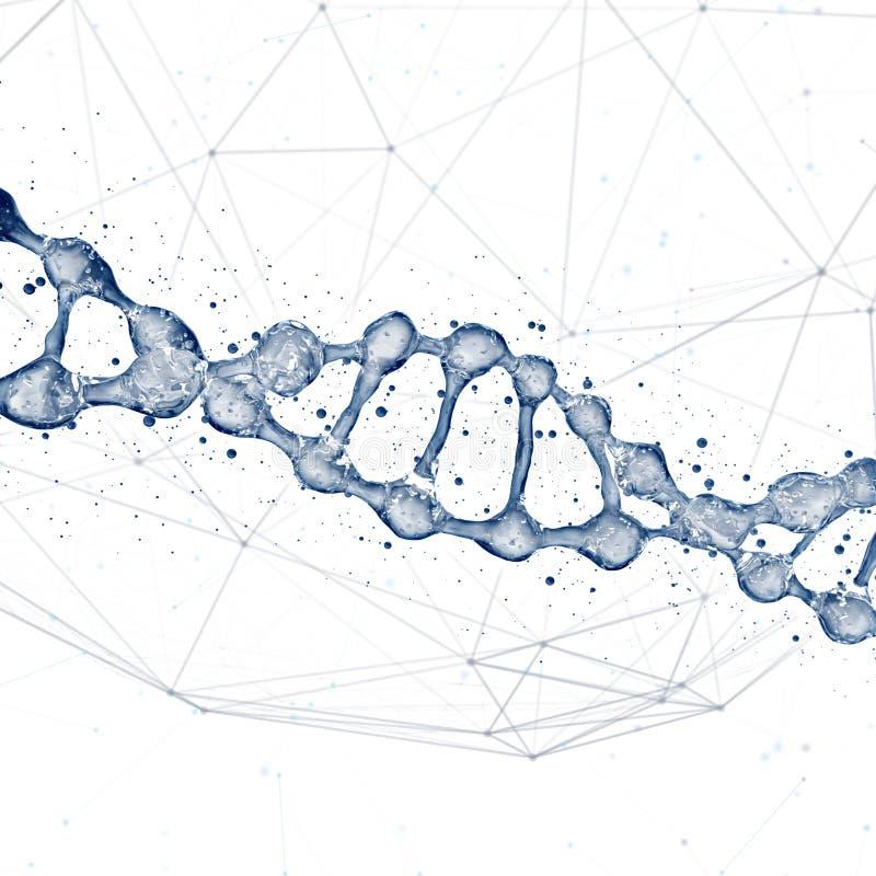 DNA-de illustratie van het moleculesontwerp stock afbeeldingen