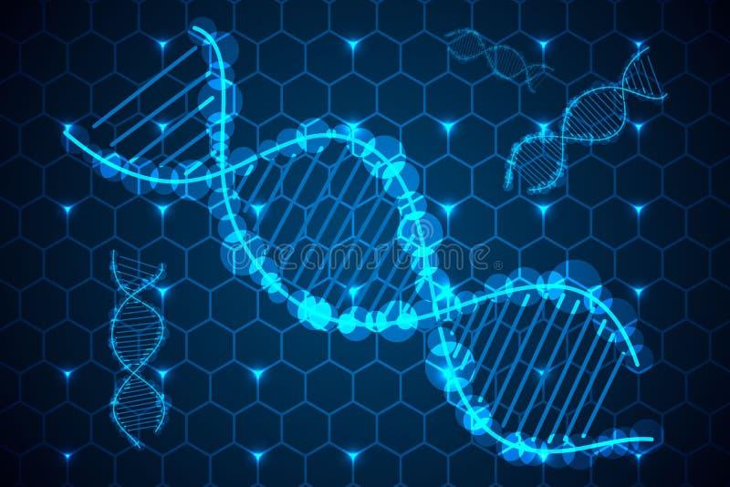 DNA del concepto de la ciencia abstracta de alta tecnología encendido imagen de archivo