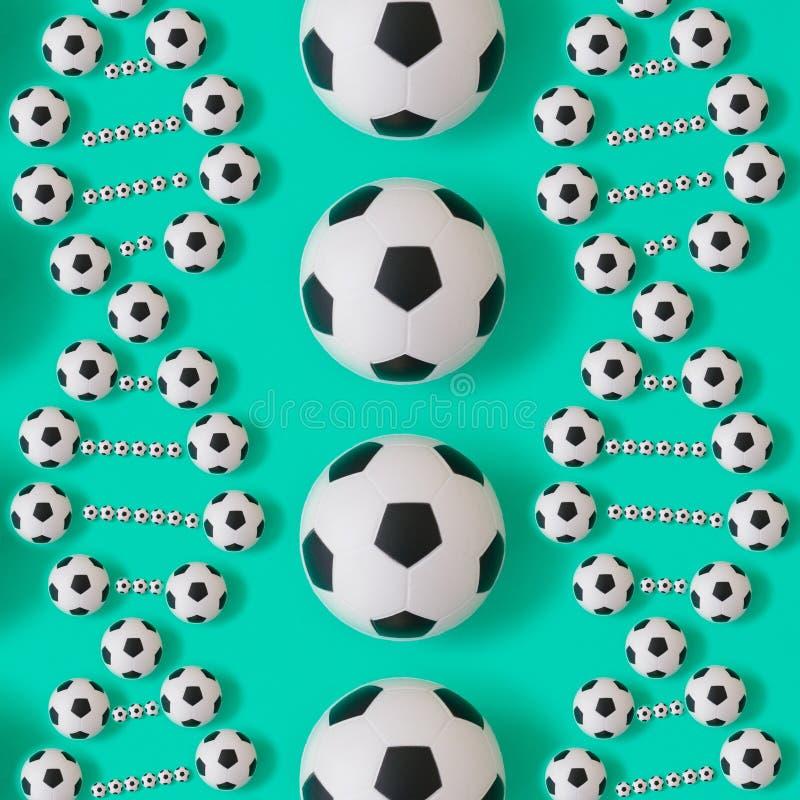 DNA del fútbol en fondo azul ilustración del vector