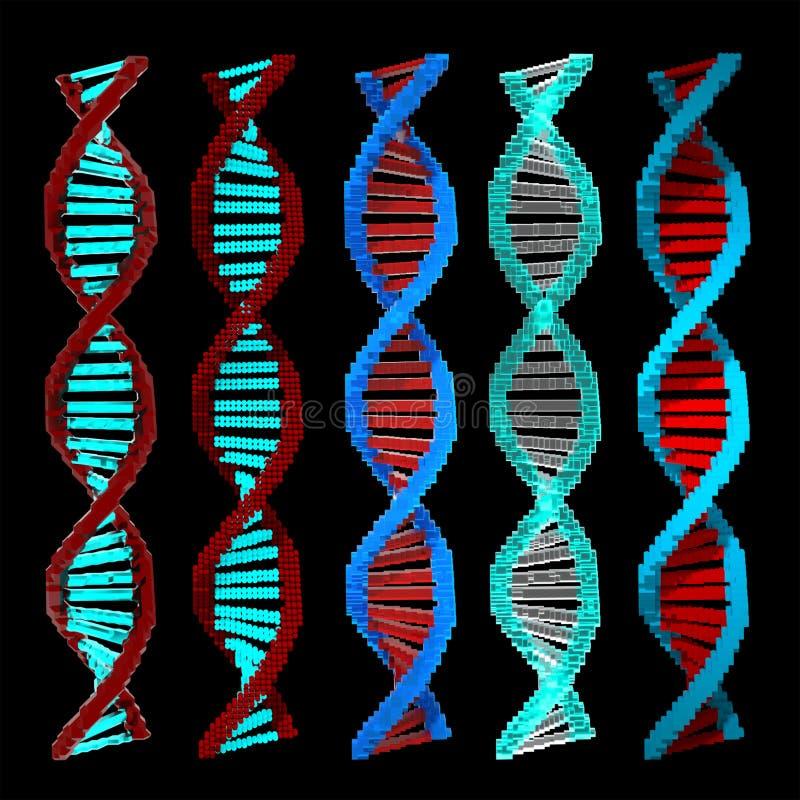 DNA del voxel 3d libre illustration