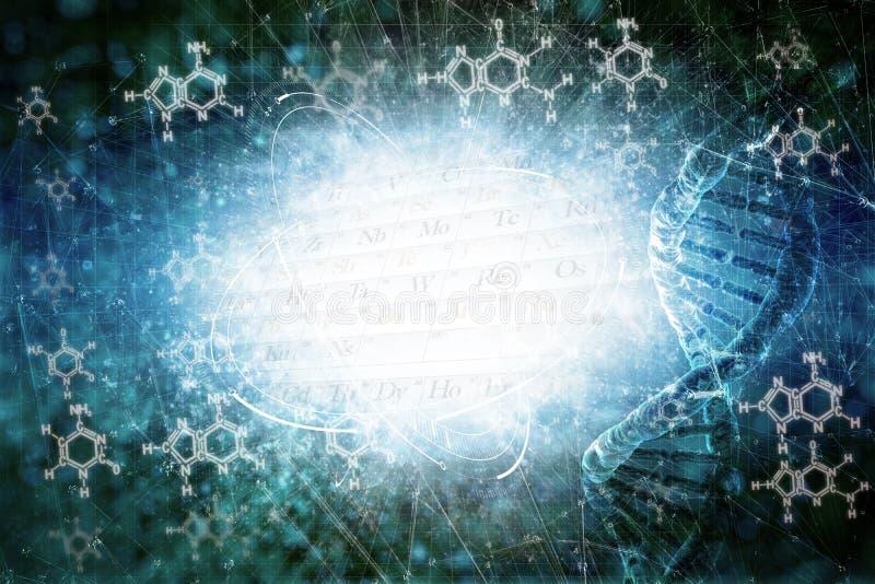 DNA delle cellule royalty illustrazione gratis