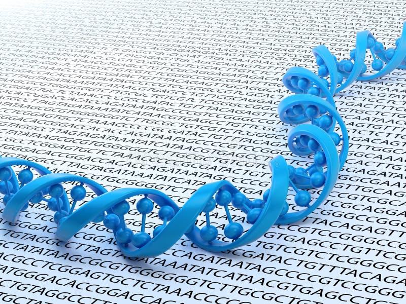 DNA die conceptenillustratie rangschikt stock illustratie