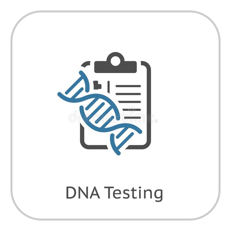 DNA die Vlak Pictogram testen vector illustratie