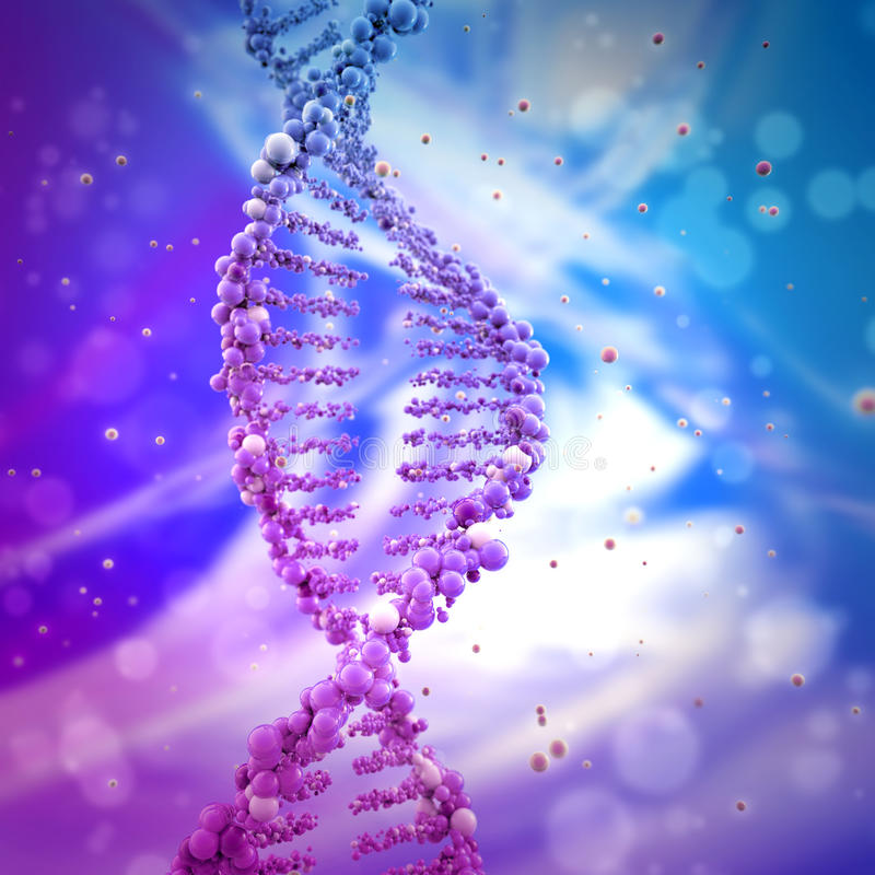 DNA double helix. In abstract background royalty free illustration