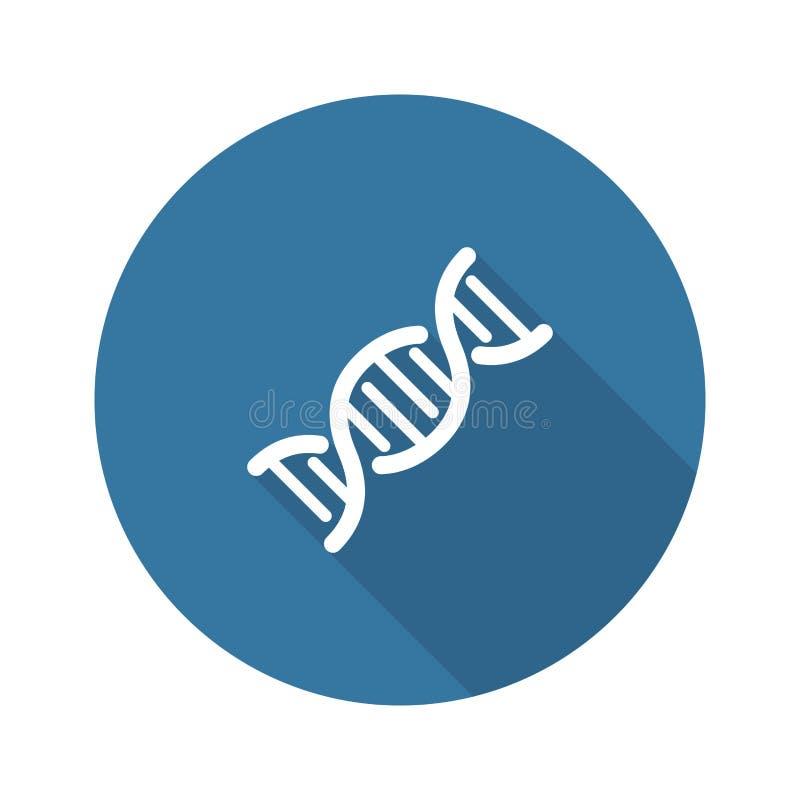 DNA en de Medische Dienstenpictogram Vlak Ontwerp royalty-vrije illustratie