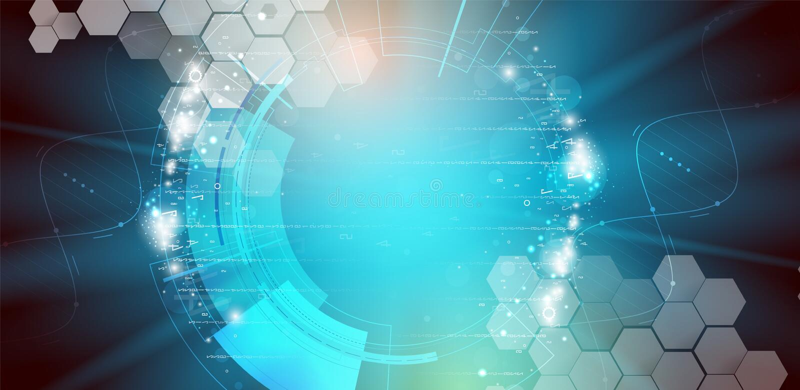 DNA en medische en technologieachtergrond futuristische molecule s stock illustratie