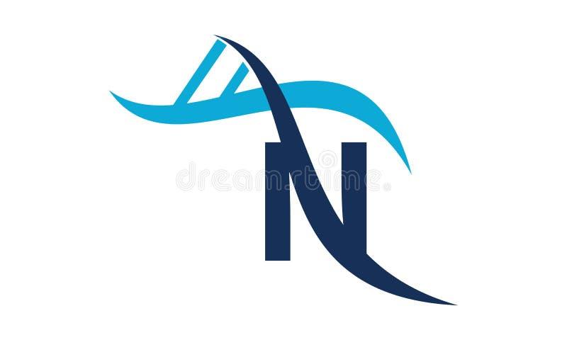 DNA för bokstav N vektor illustrationer