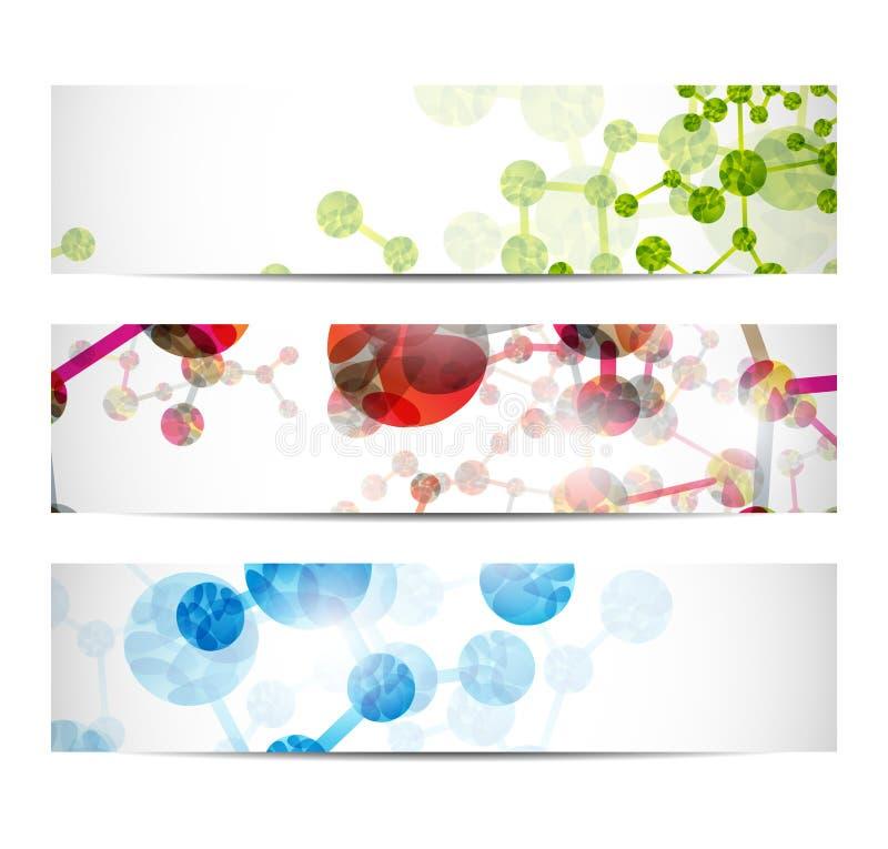 DNA-Fahne lizenzfreie abbildung