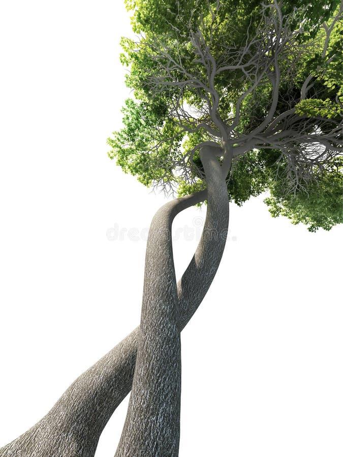 DNA geänderter Baum genetisch lizenzfreie abbildung