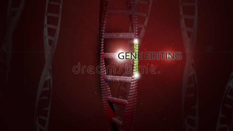 DNA-Gen, welches das Verfassen mit Buchstaben redigiert stockfoto