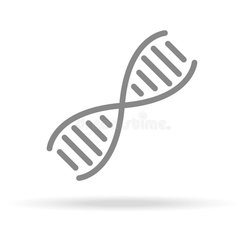 Dna Genetics Icon In Trendy Thin Line Style Isolated On White
