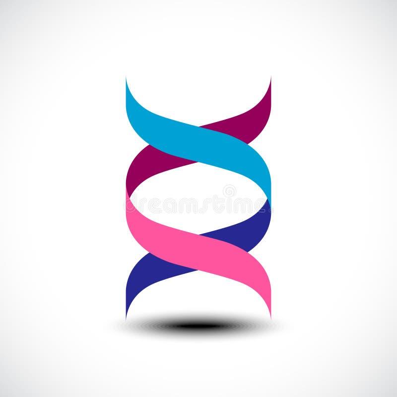 DNA, genetisches Zeichen, Elemente und Ikone stockbild