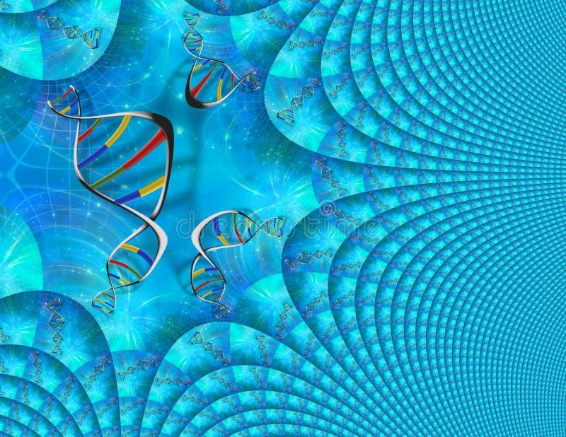 DNA genetyka ilustracja wektor
