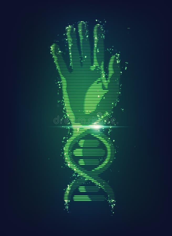DNA-Hand lizenzfreie abbildung