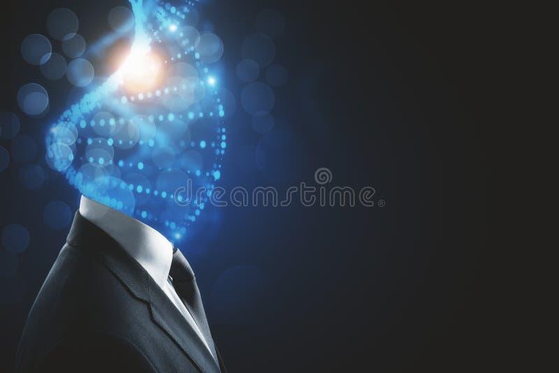 DNA headed man royalty free illustration