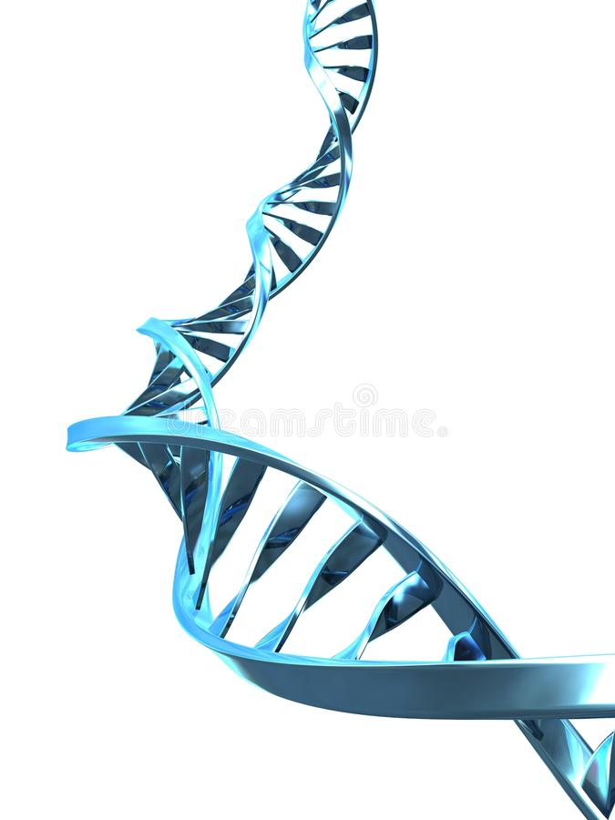 Dna helix. 3d rendered illustration from a part of a double helix royalty free illustration