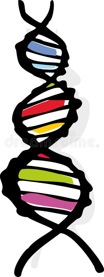 DNA Helix stock illustration