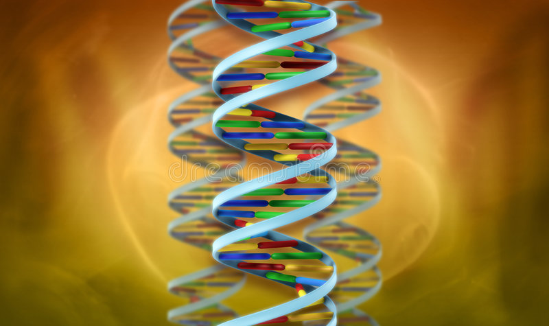 DNA helix abstract royalty free illustration