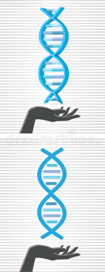 Download DNA Helix In Hand Royalty Free Stock Image - Image: 33273436