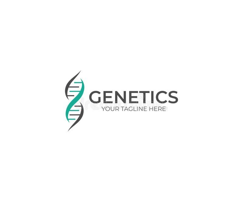 DNA Helix loga szablon Genetyka Wektorowy projekt ilustracji